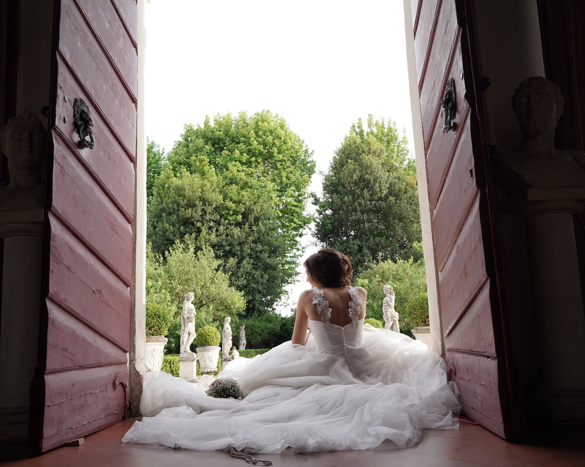 giardino villa storica, shooting matrimonio, sposa vicenza, villa giardino esterno Vicenza, villa giardino esterno Grumolo delle Abbadesse, giardino statue
