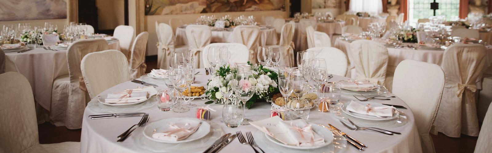 allestimento banchetto matrimonio, sala da pranzo matrimonio, sala da pranzo con affreschi